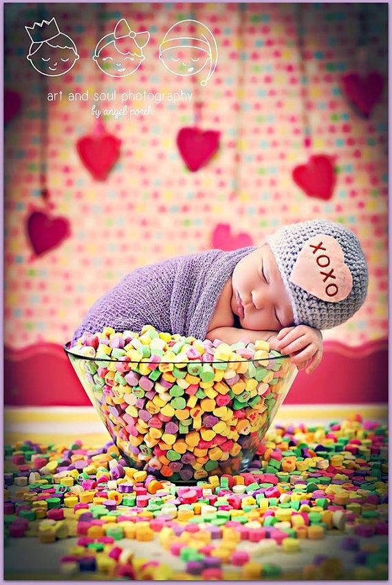 Newborn+Baby+Girl+Photo+Prop+Valentine+Hat+by+MitziKnitz+on+Etsy,+$25.00