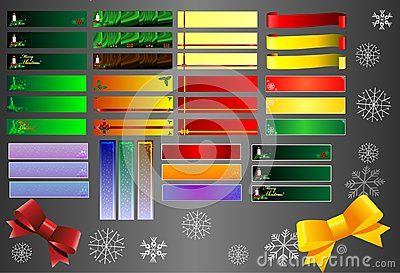 Thirty six celebrity web banners. The whole Vector, snowflakes too! Banners are sized in Corell, Web banner size.There is an AI file format for downloading vector.