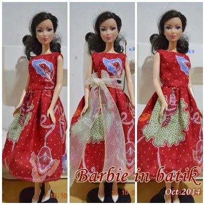 barbie in batik, barbie dress