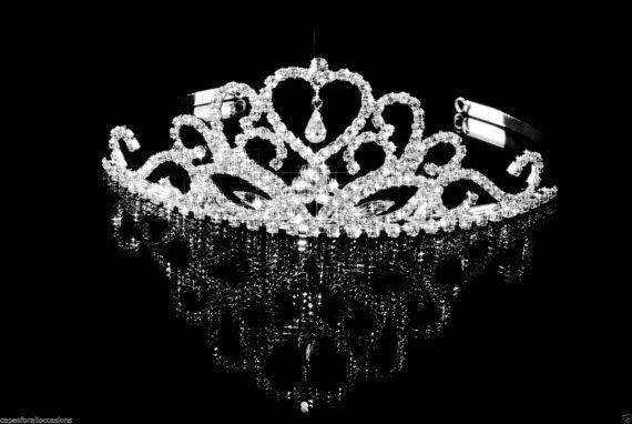 Strass Kristall Prinzessin Perle Krone Tiara von ekidsbridalusa