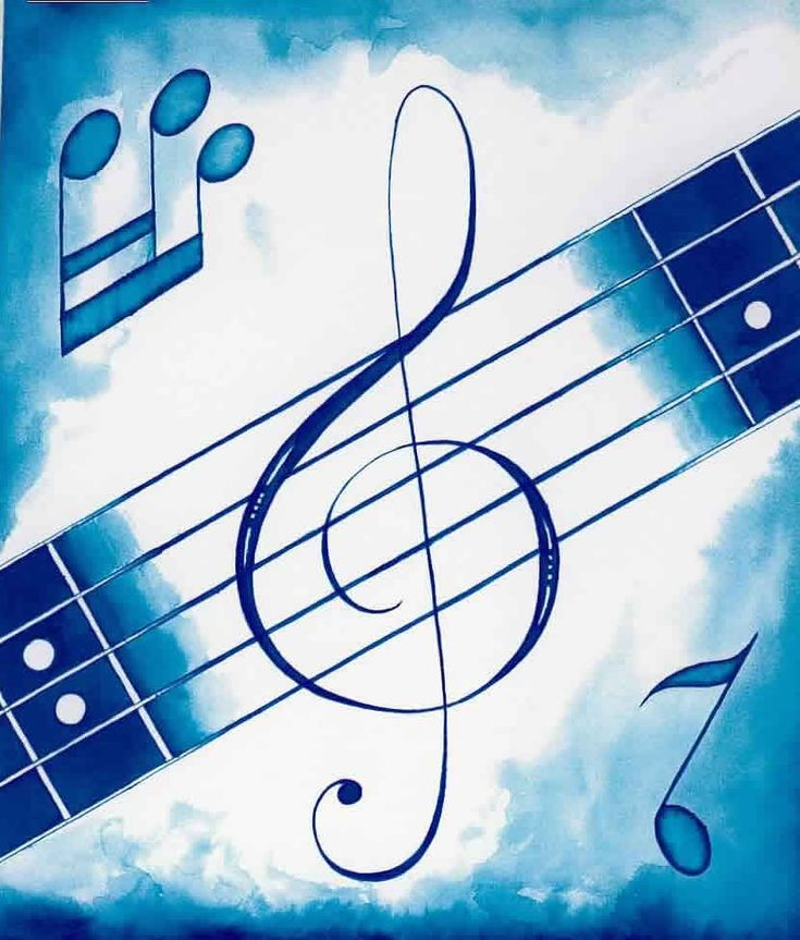 Music in Blue. #musicnotes http://www.pinterest.com/TheHitman14/music-symbols-%2B/