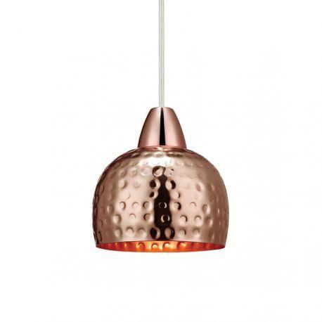Markslöjd Hammer pendel i kobberfarvet metal. Lampen er 13 cm i diameter.Excl. lyskilde.