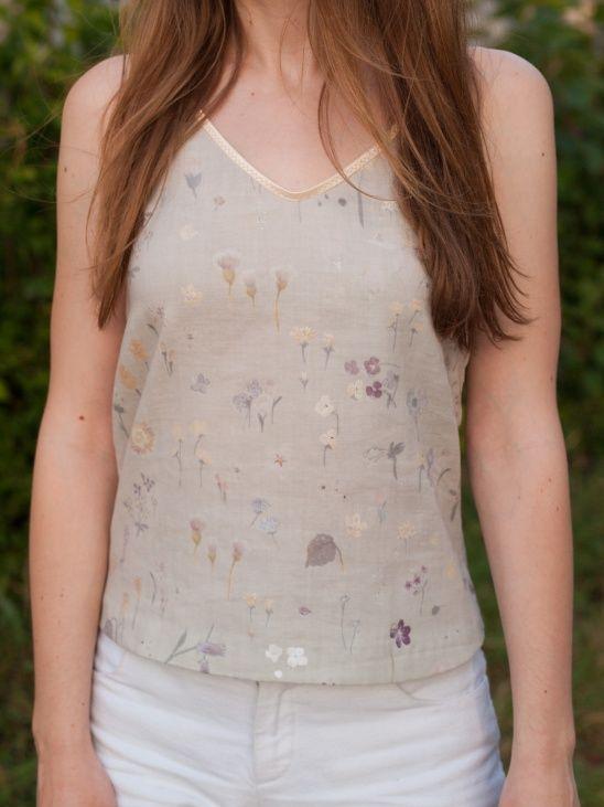 Nani iro double gauze remnant + free Sewloft Diana Cami pattern. More on my blog