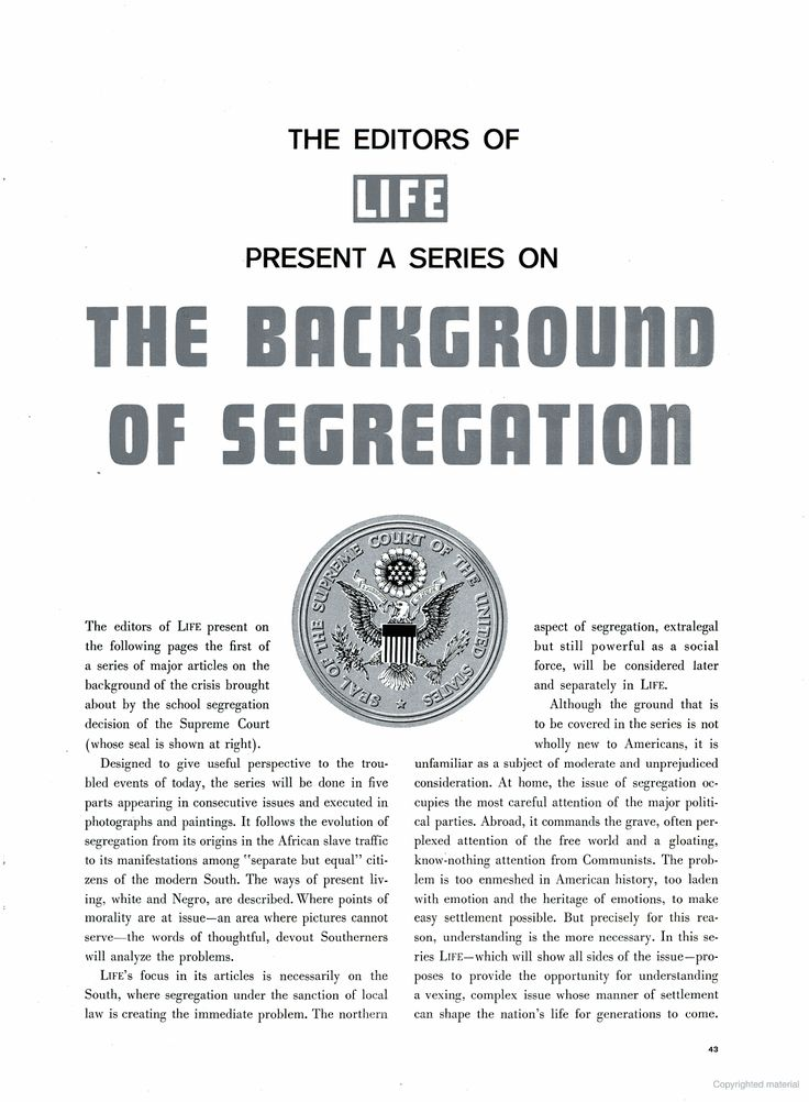 """LIFE magazine, 3 Sept. 1956, """"Background to Segregation Part 1: How the negro came to slavery"""", p.43"""
