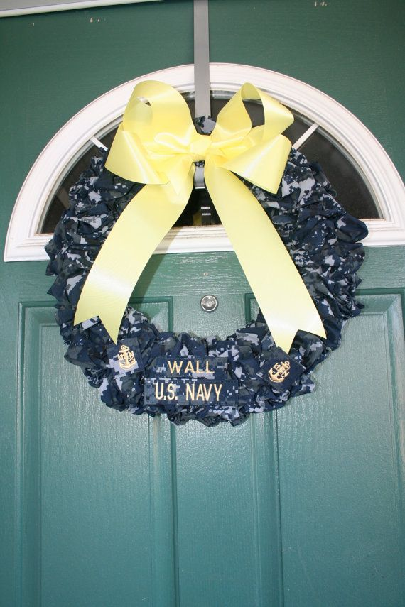 Navy Chief Wreath by SandyKissesCloset on Etsy