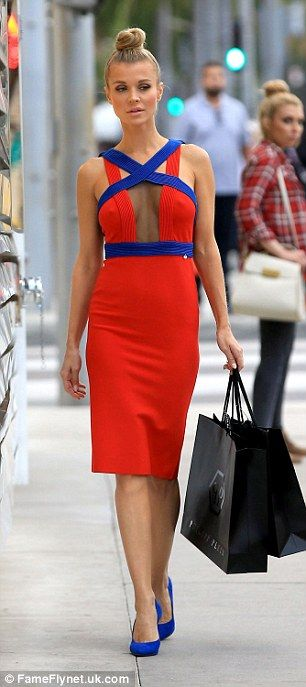 Joanna Krupa wows in plunging red dress at Beverly Hills photoshoot | Daily Mail Online