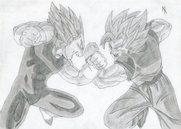 Fonds d 39 cran art crayon fonds d 39 cran manga dragon - Dessin manga dragon ball z ...
