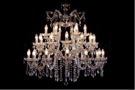 Kroonluchter 30 lichts chroom maria theresa  #chandelier #droomkroonluchter