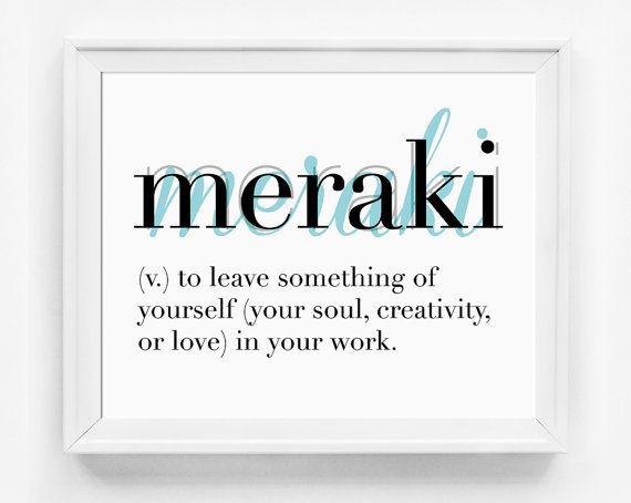 Printable Art Printable Poster Meraki by GirlFridayPaperArts