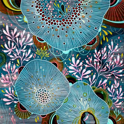 Yellena James - Gallery  Very intricate acrylic painting on wood