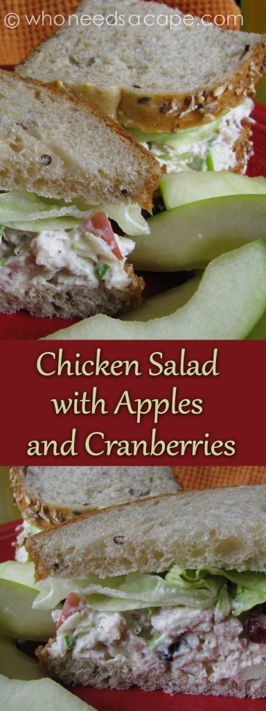 Chicken Salad with Apples and Cranberries a delicious sandwich perfect for summer picnics or lunches!