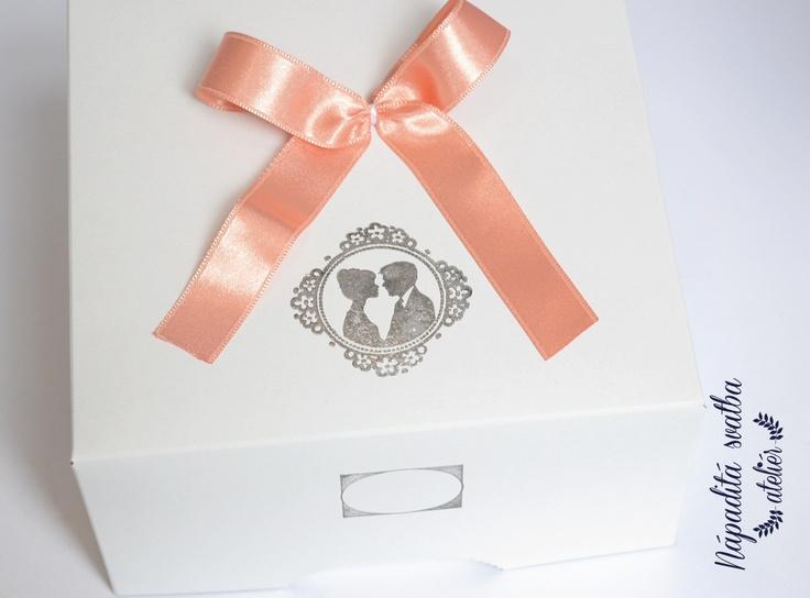Originální krabičky na svatební výslužky z mé tvorby