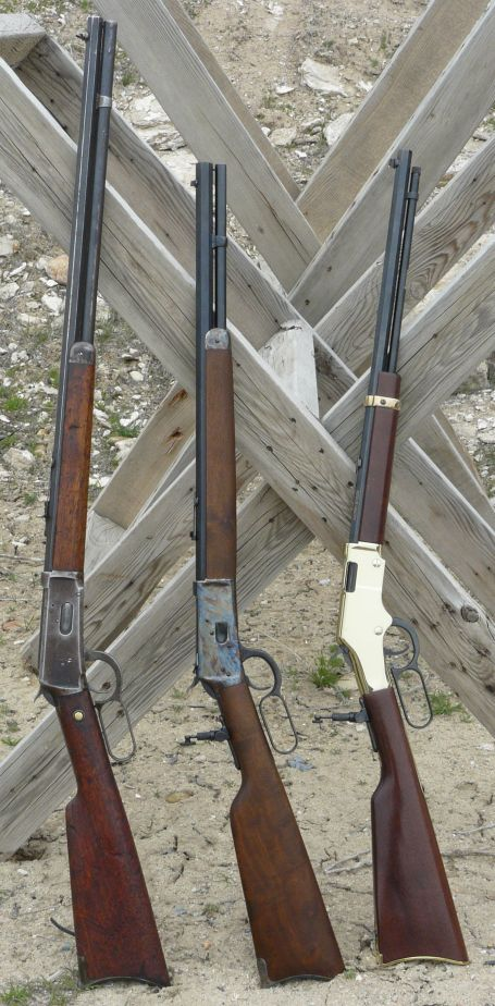 Winchester, Rossi and Henry - lever action cowboy rifles. Love the old cowboy guns