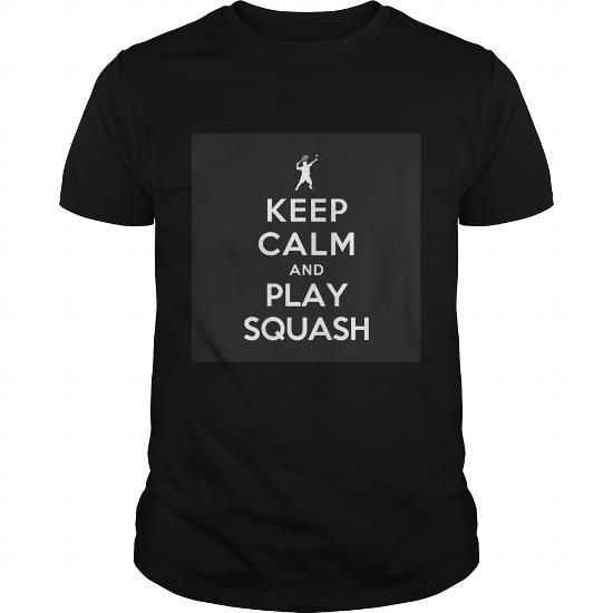 I Love Keep Calm and Play Squash T shirts