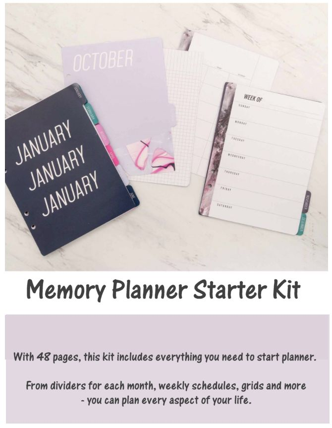 Create your very own personalised planner with the Memory Planner Starter Kit in mixed colours!   With 48 pages, this kit includes everything you need to start planner.   From dividers for each month, weekly schedules, grids and more - you can plan every aspect of your life.   It's time to start living life to the full with the help from this funky Memory Planner Starter Kit!   . Includes 48 pages. Approx. Dimensions (mm) H 203 W 152  #Planner #diary #affiliate