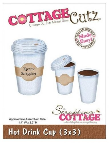 COTTAGECUTZ - 3X3091 - HOT DRINK CUPDe er enkle å bruke og du får flotte detaljer til dine prosjekter.  Approximate Assembled Size:1.4x2.2 inches COTTAGE CUTZ: Cottage Cutz Elites Dies. With design styles that are cute and adorable; fun and whimsical; and classically elegant these universal wafer-thin dies make a great addition to your paper crafting supplies. Cut amazing shapes out of paper; cardstock; adhesive-backed paper; vinyl; vellum and more. They are ...