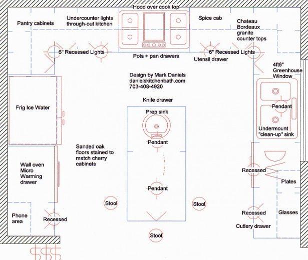 Galley Kitchen Design Floorplan With Island | ... Galley Design: Modern  Kitchen Floor Part 71
