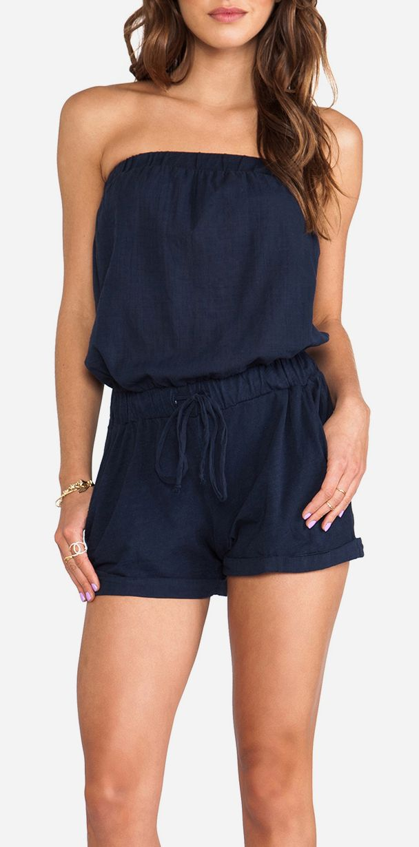 Michael Stars Strapless Romper in Ship
