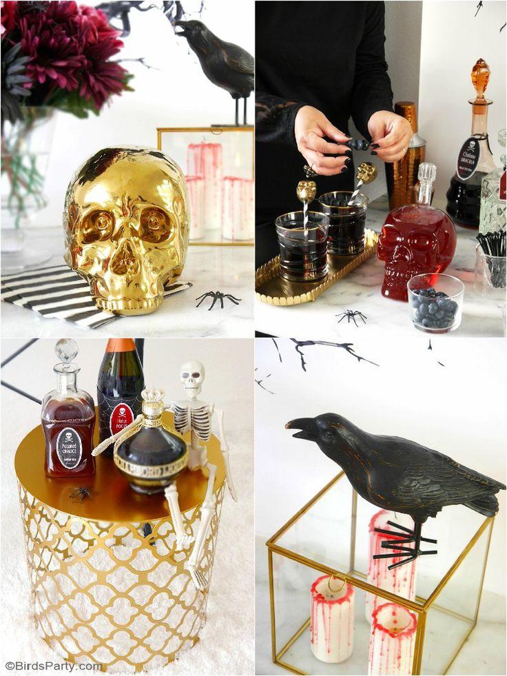 best 25 chic halloween ideas on pinterest chic halloween decor spooky halloween decorations. Black Bedroom Furniture Sets. Home Design Ideas
