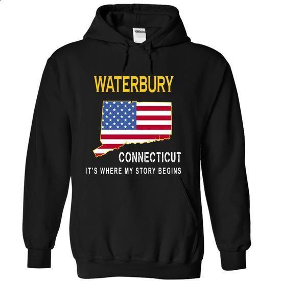 WATERBURY - Its Where My Story Begins - #tshirt men #black sweater. I WANT THIS => https://www.sunfrog.com/States/WATERBURY--Its-Where-My-Story-Begins-qkurl-Black-6721174-Hoodie.html?68278