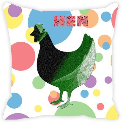Leaf Designs Multicoloured Polka Dotted Hen Cushion Cover Cushion Covers on Shimply.com
