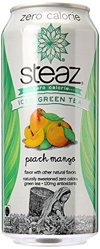Steaz Zero Calorie Peach Mango Iced Green Tea, 16 oz -- To view further for this article, visit the image link.