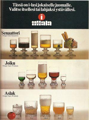 Iittala - mainos 70-luvun alkupuoliskolta