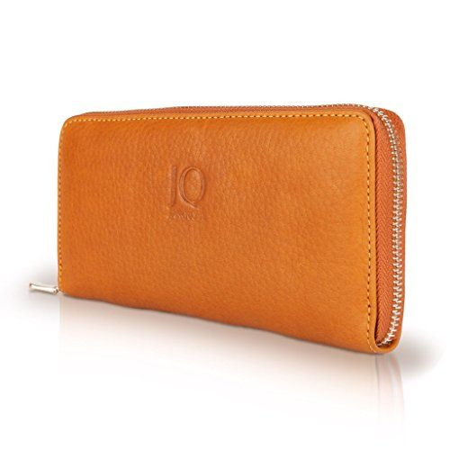 8ed7b54e7e79a JAKQUZEL Ledergeldbörse Geldbeutel Portemonnaie Manekquin aus echtem Leder  für Damen CAPPUCCINO