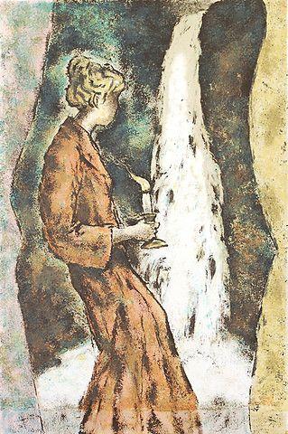Svein Bolling <em>Foss</em><br />litografi, 54x36 cm