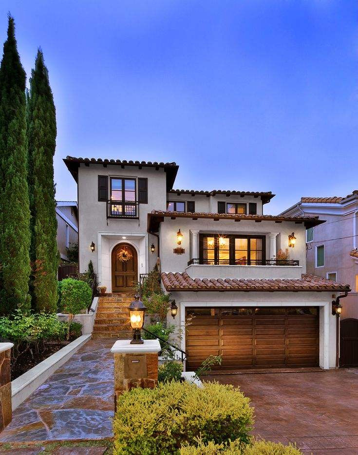 Luxury Spanish Villa Style Home Exterior In 2019