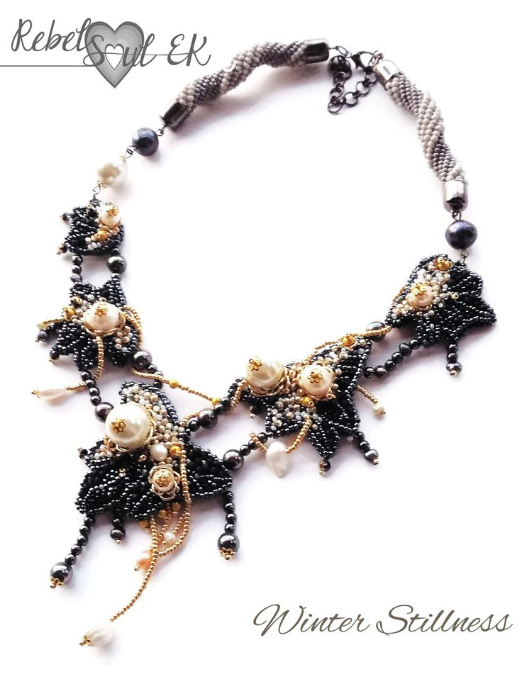 "Statement necklace ""Winter stillness"" by RebelSoulEK"
