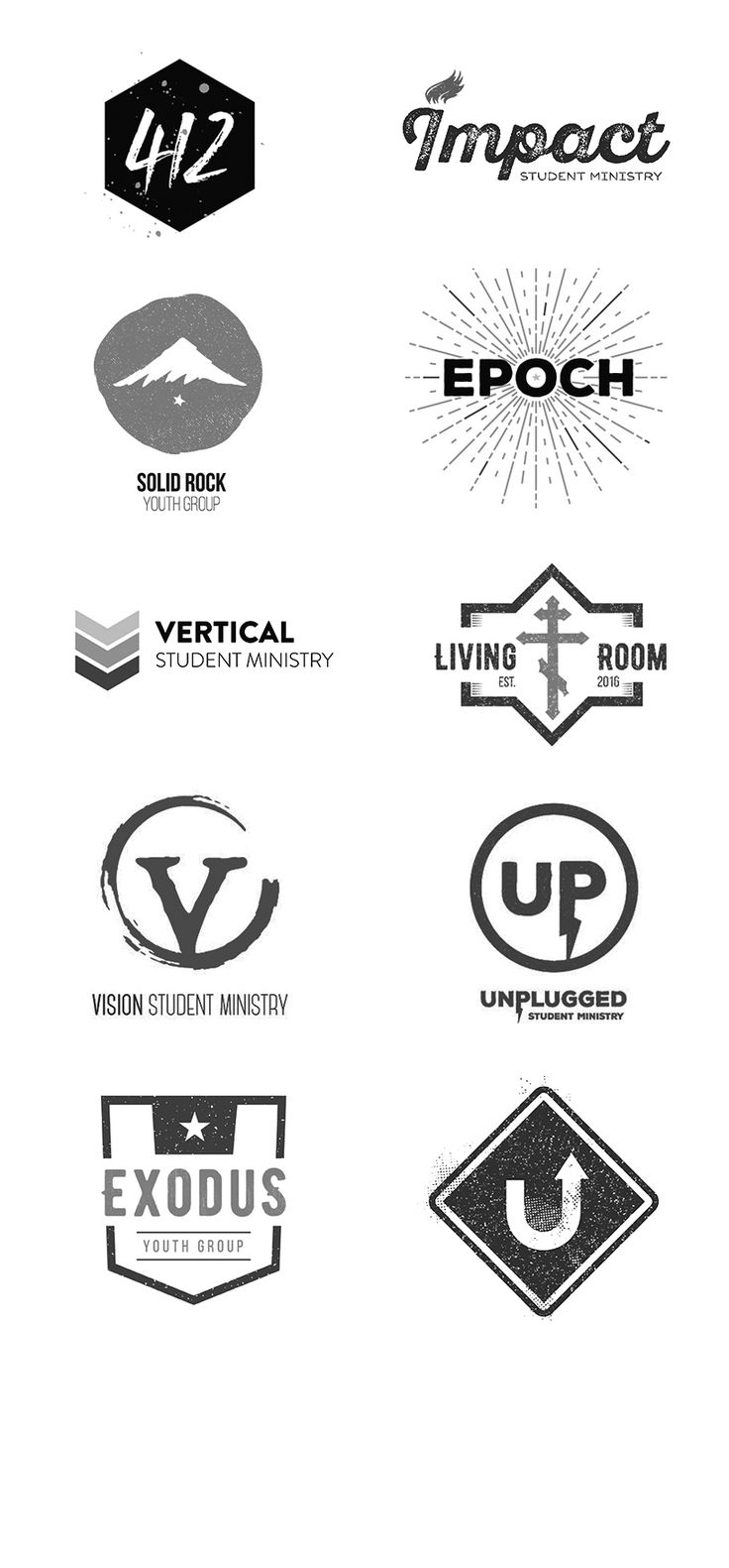 These 10 awesome student ministry logos are available for download at YouthGroupLogos.com and are customizable for free for a limited time.Each faith-based logo is expertly designed to bring a memorable and Biblical brand to the youth group it represent…