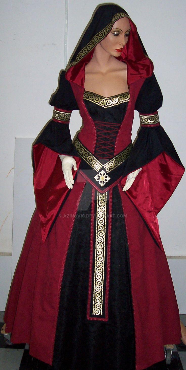 Medieval dress Sarah by Azinovic.deviantart.com on @DeviantArt