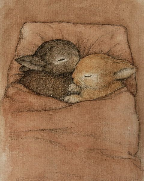 deviantART Shop Framed Wall Art Prints & Canvas | Traditional Art | Drawings | baby bunnies by artist ~moussee