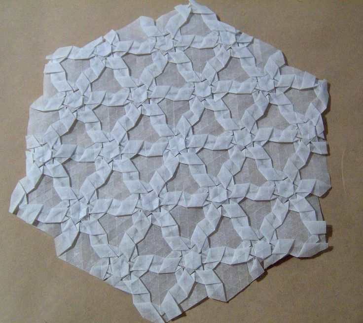 """https://flic.kr/p/ofjoU   syngola's irregular hex flagstone - side b   Designed by Peter (syngola) - tessellation of his irregular hexagon flagstone design as seen here - <a href=""""http://www.flickr.com/photos/syngola/225932178/"""">www.flickr.com/photos/syngola/225932178/</a> made from baking parchment paper"""