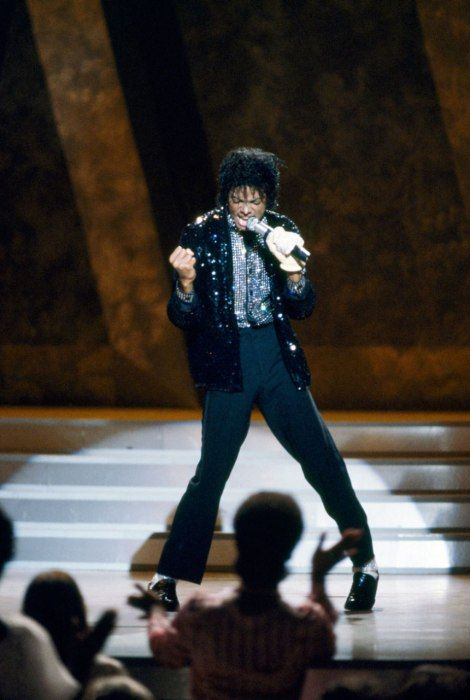 The singer performing at a 1983 concert, at which he moonwalked onstage for the first time. Photos: Michael Jackson's Rise to Fame | Vanity Fair