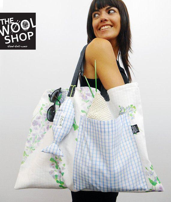 BEACH BAG la fantastica borsa da spiaggia made di TheWoolShopItaly