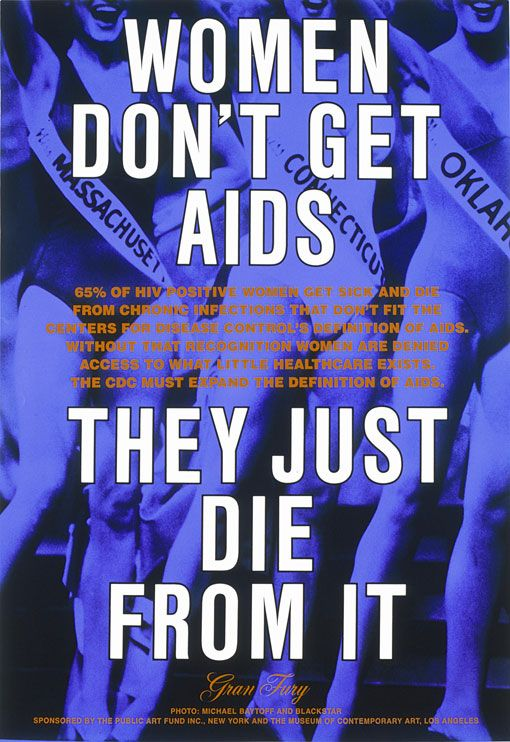 lesbianartandartists: Gran Fury, Women Don't Get AIDS