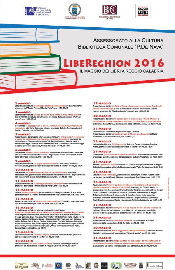LibeReghion 2016 Il Maggio dei Libri a Reggio Calabria