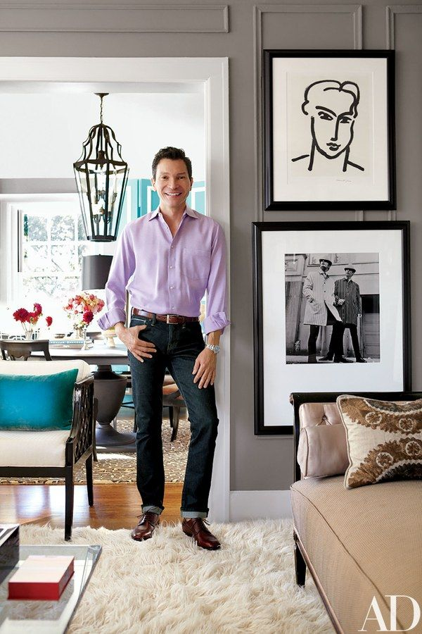 Hallmark Cards visual-merchandising executive David Jimenez at his home in Kansas City, Missouri.