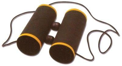 Binoculars from toilet paper tubes