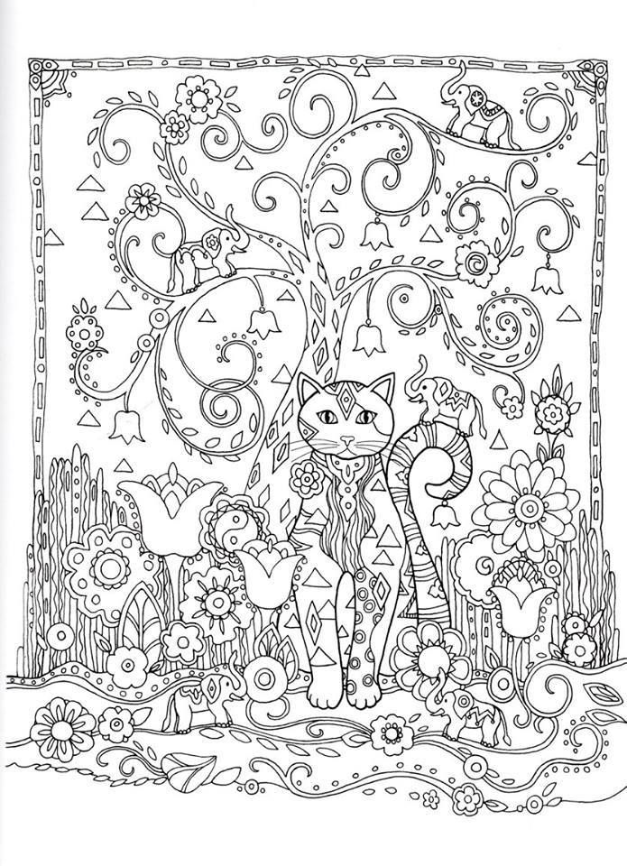 whimsical flower coloring pages - photo#47