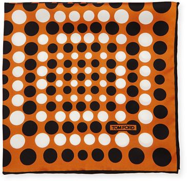 TOM FORD Irregular Dot-Print Silk Pocket Square
