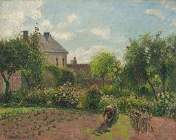 Camille Pissarro - The Artist's Garden at Eragny - 1898 - Painting