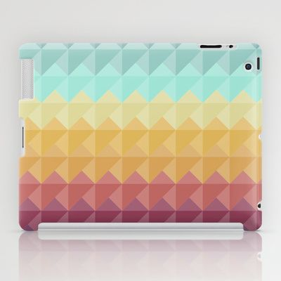 Retro Triangles iPad Case by Refreshdesign
