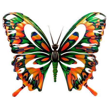 Metal Butterfly Wall Art Target 3d Butterfly Metal Wall Art Target With Aspen Leaf Wall D