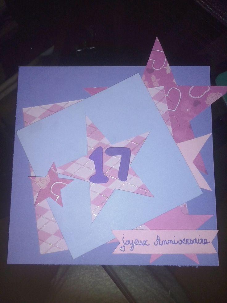 carte d'anniversaire scrapbooking