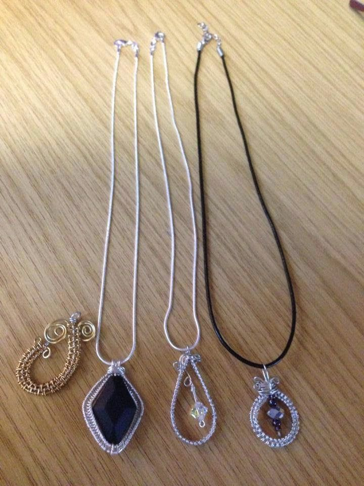 Wire wrapping technique can be used to create some beautiful focal pieces for necklaces.