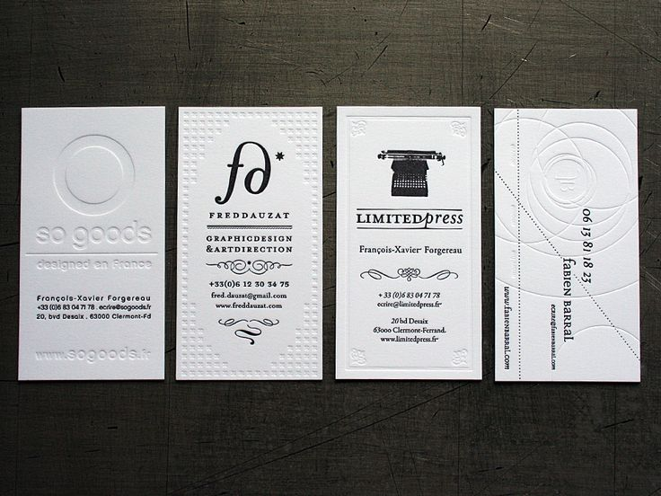 Fabien Barral Business Cards: Embossing Cards, Logo, Fabien Barral, Corporate Identity, Barral Business, Graphics Design, Brand, Business Cards Design, Letterpresses Business Cards