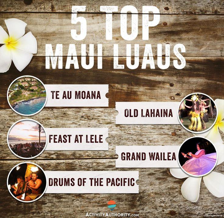 Top 5 maui Luaus